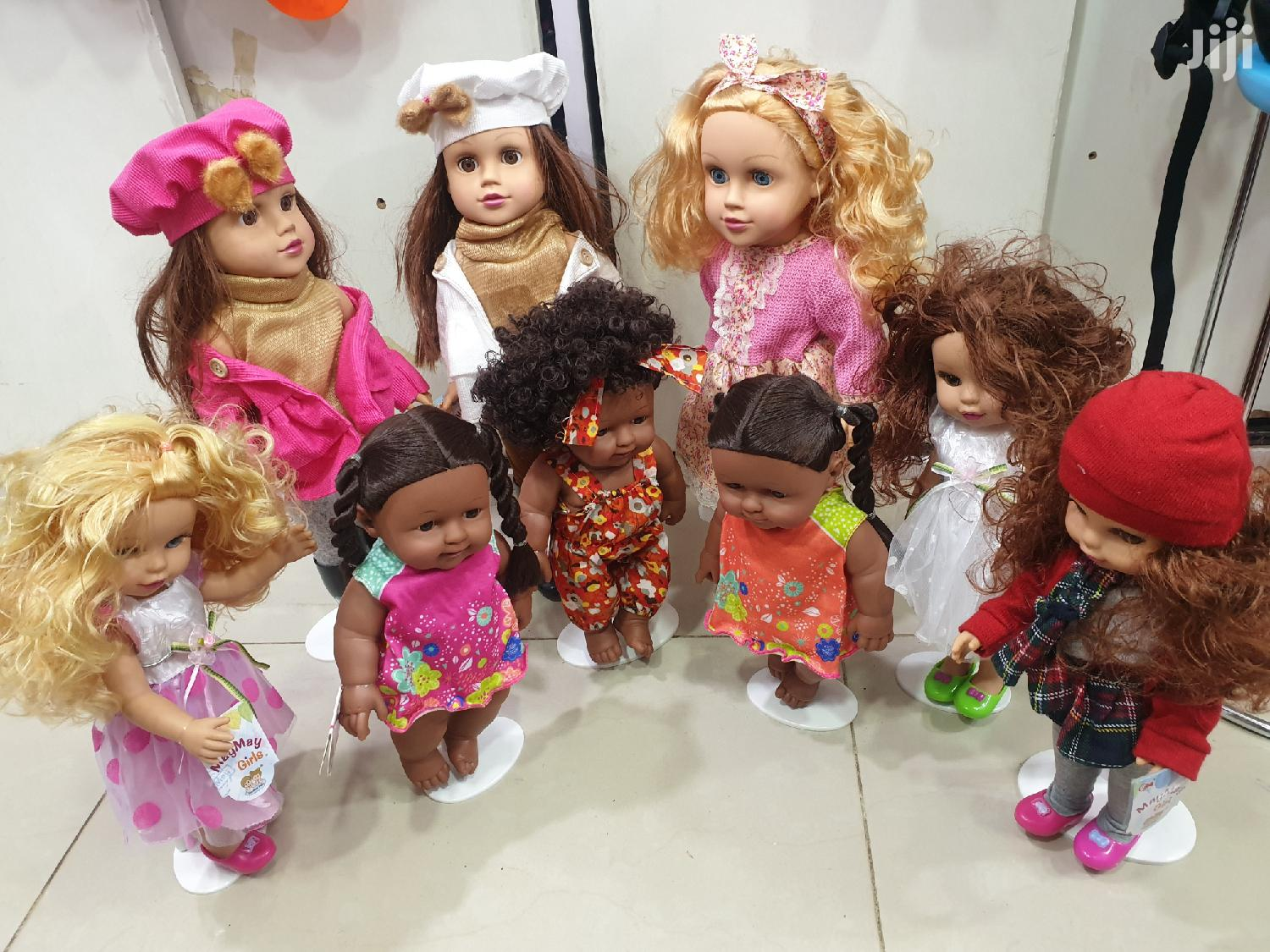 Caucasian And African Dolls Both Musical And Talking
