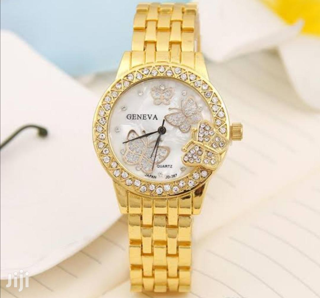Geneva Butterfly Ladies Wrist Watch
