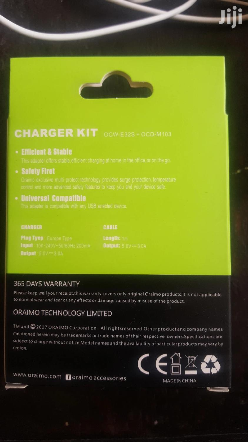 Oraimo 2pin Fast Charger   Accessories for Mobile Phones & Tablets for sale in Kilimani, Nairobi, Kenya