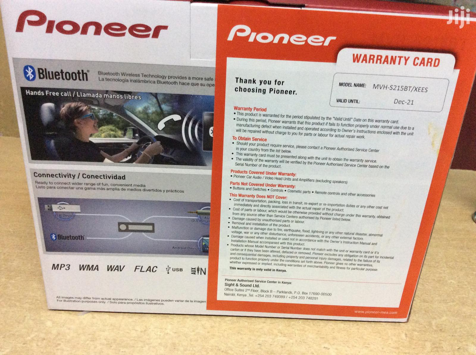 New Pioneer S215bt Car Radio With Bluetooth/ Fm/ Usb | Vehicle Parts & Accessories for sale in Nairobi Central, Nairobi, Kenya