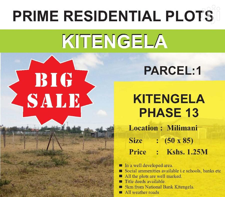 Kitengela Prime Plots. 5km From the Main Road