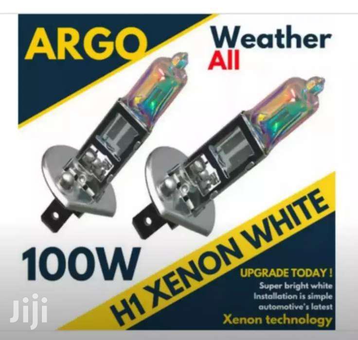 H1 100watts Latest Xenon Filled Rainbow Finish White Halogen Bulb Set