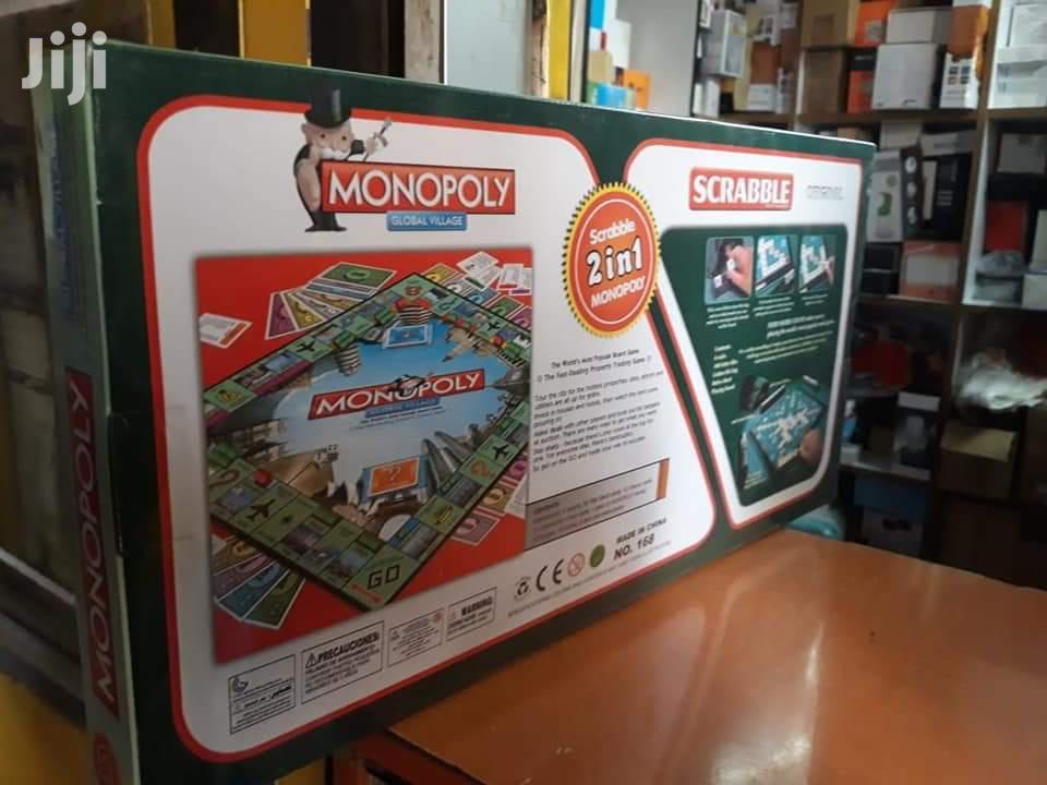 Scrabble + Monopoly 2 in 1 Family Party Board