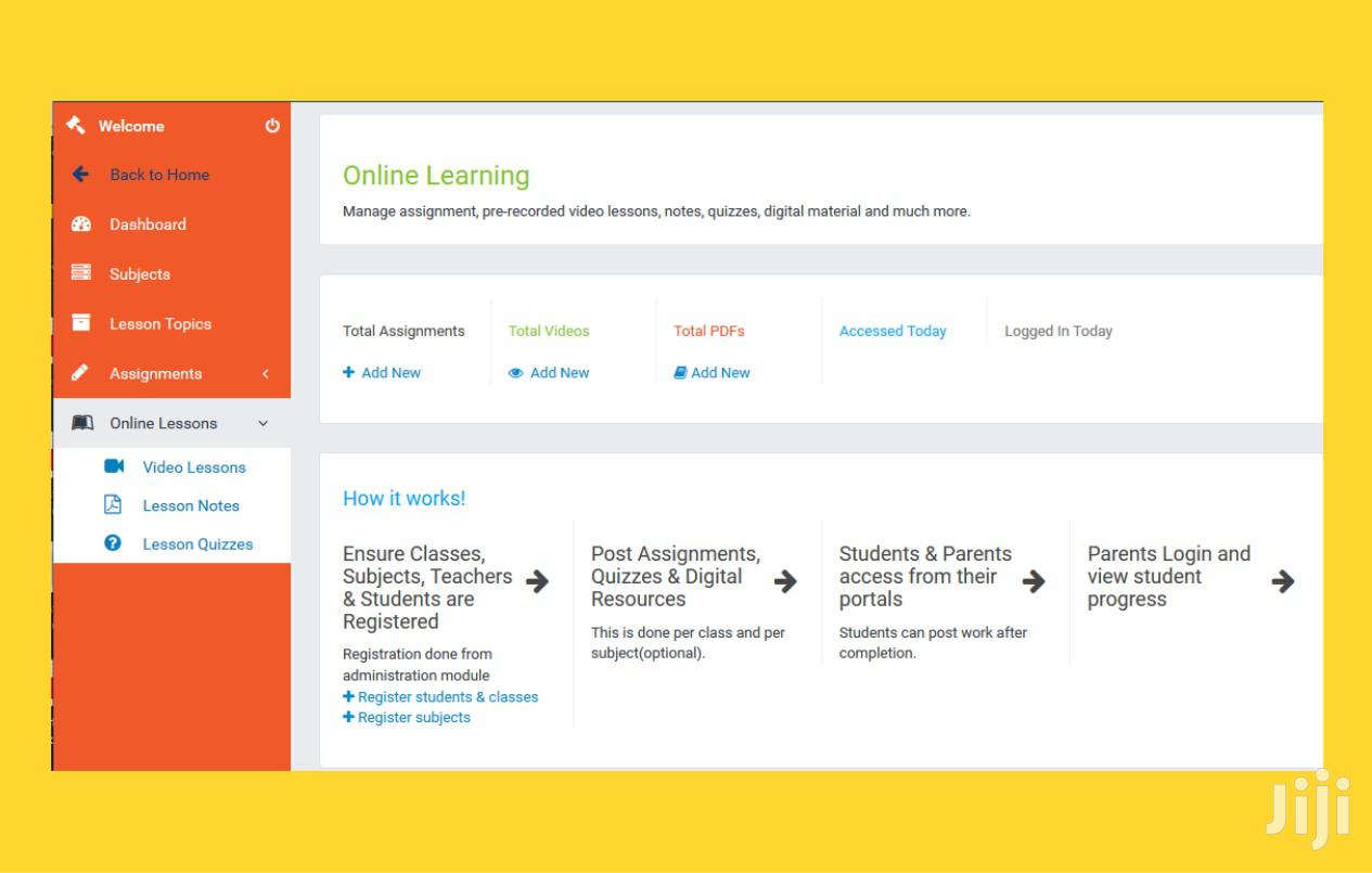Complete Online School System With Remote Learning | Software for sale in Nairobi Central, Nairobi, Kenya