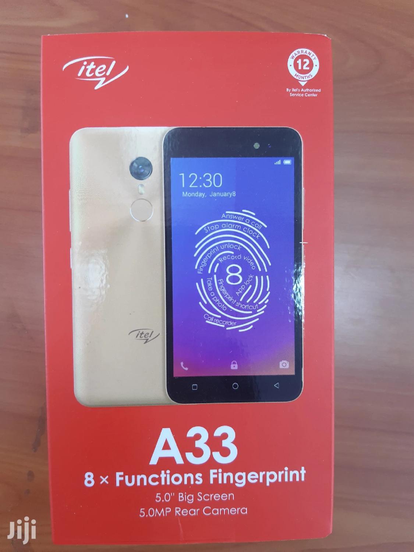 New Itel A33 8 GB Gold