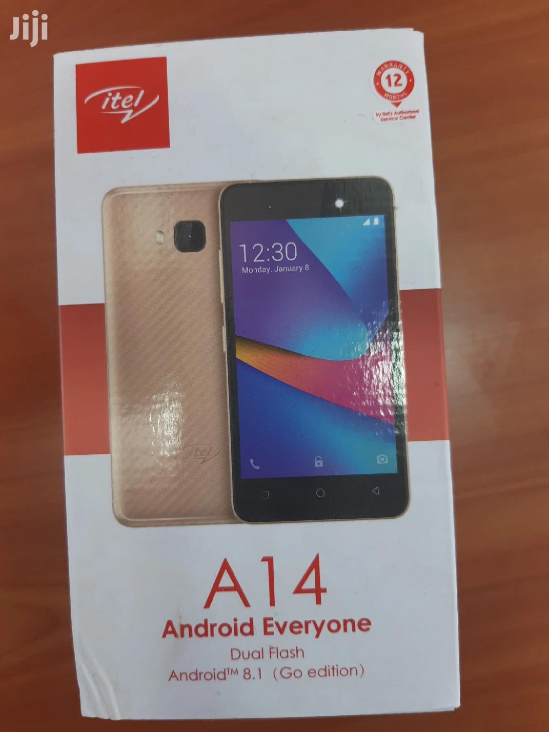 New Itel A14 8 GB Black