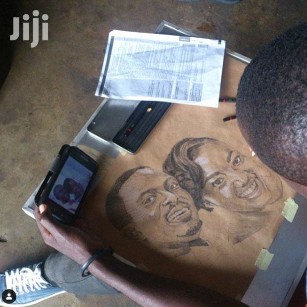 Archive: Art Pencil On Brown Paper