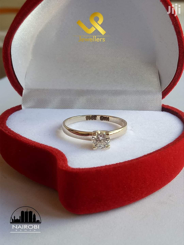 Ladies Custom Made Yellow Gold Engagement Ring