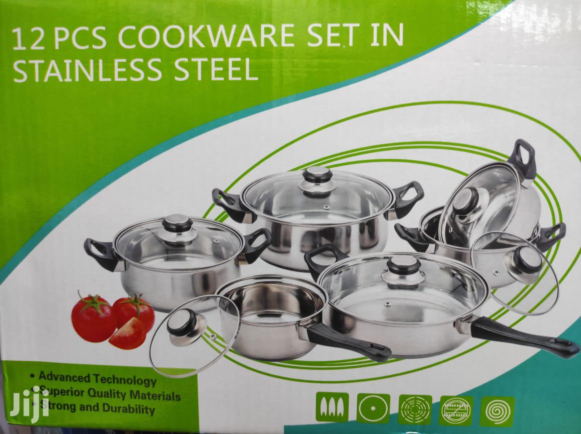 12pcs Cookware Stainless Steel
