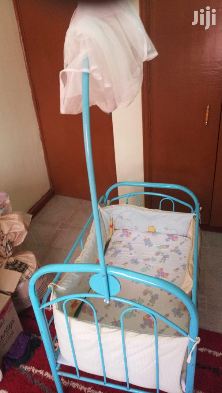 Archive: Baby Cot Complete With Mosquito Net And Cot Bumpers