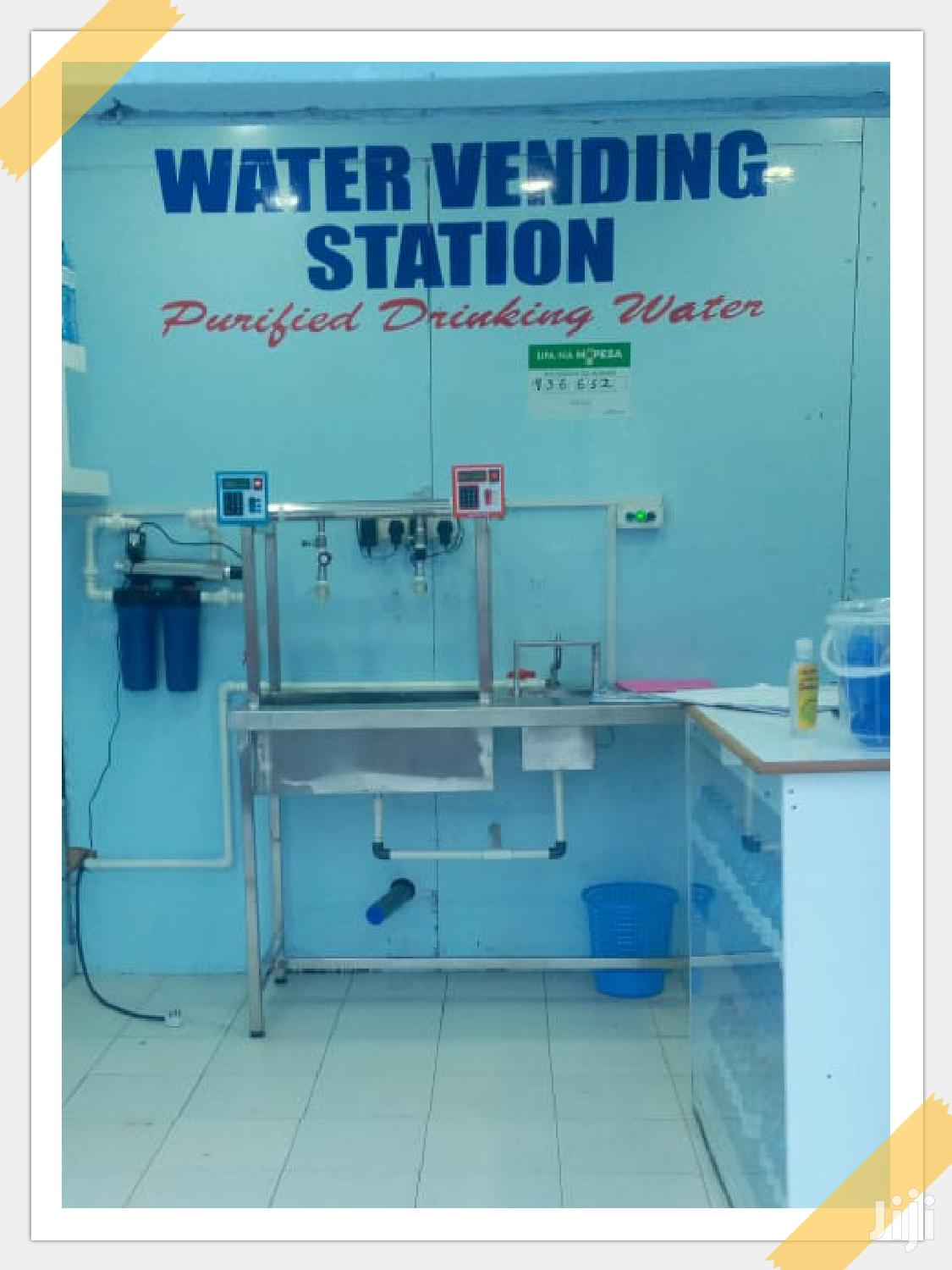 Automated Water Vending Machine 2 Taps