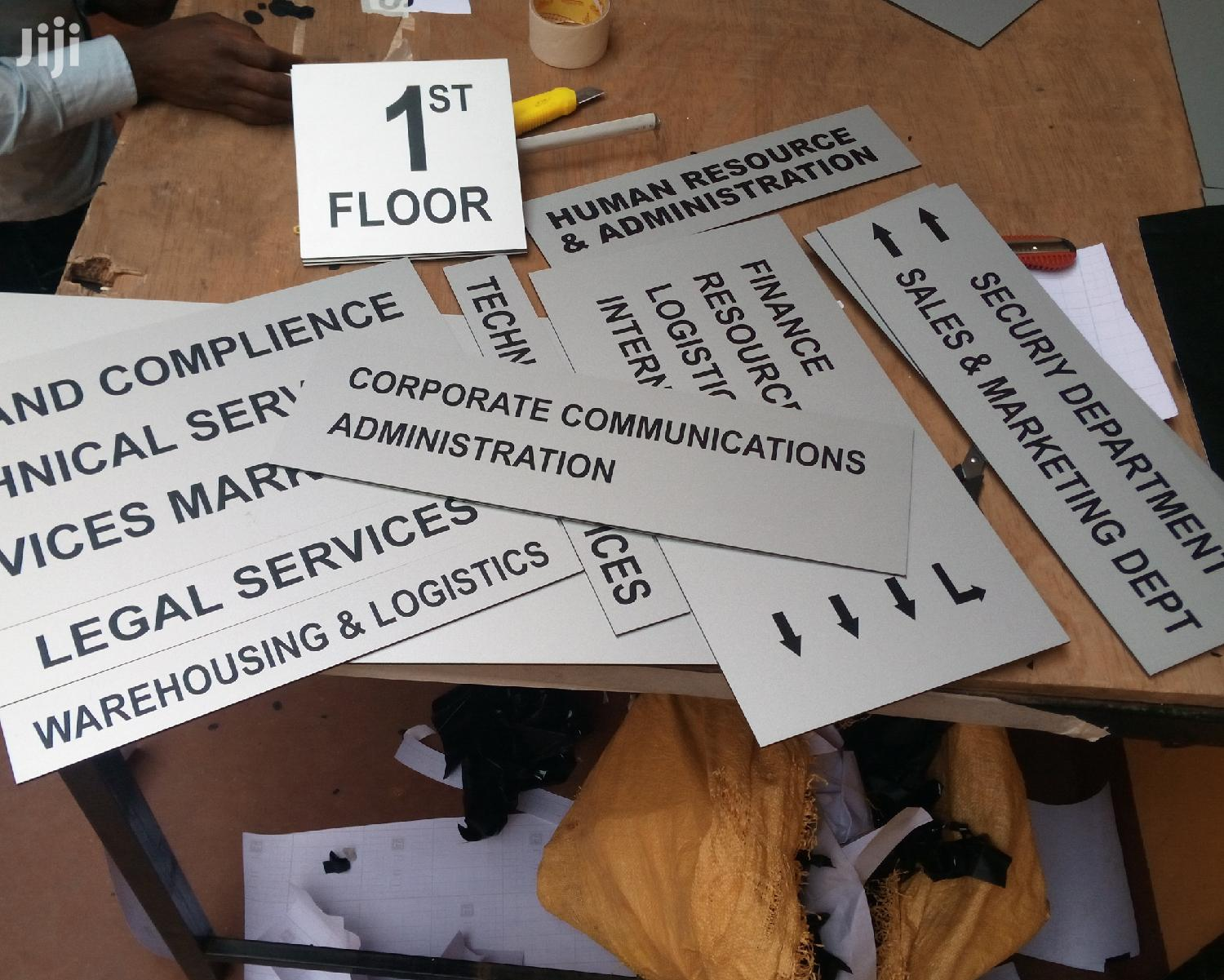 Engraved Office Door Signs | Manufacturing Services for sale in Nairobi Central, Nairobi, Kenya