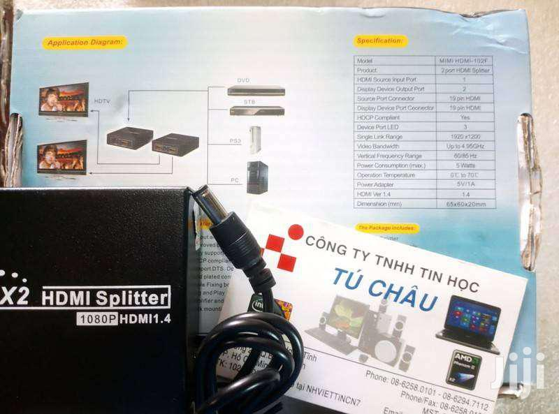 HDMI Splitter: 1 HDMI Output 2 HDMI Out Mini HD - 102 | Accessories & Supplies for Electronics for sale in Nairobi Central, Nairobi, Kenya