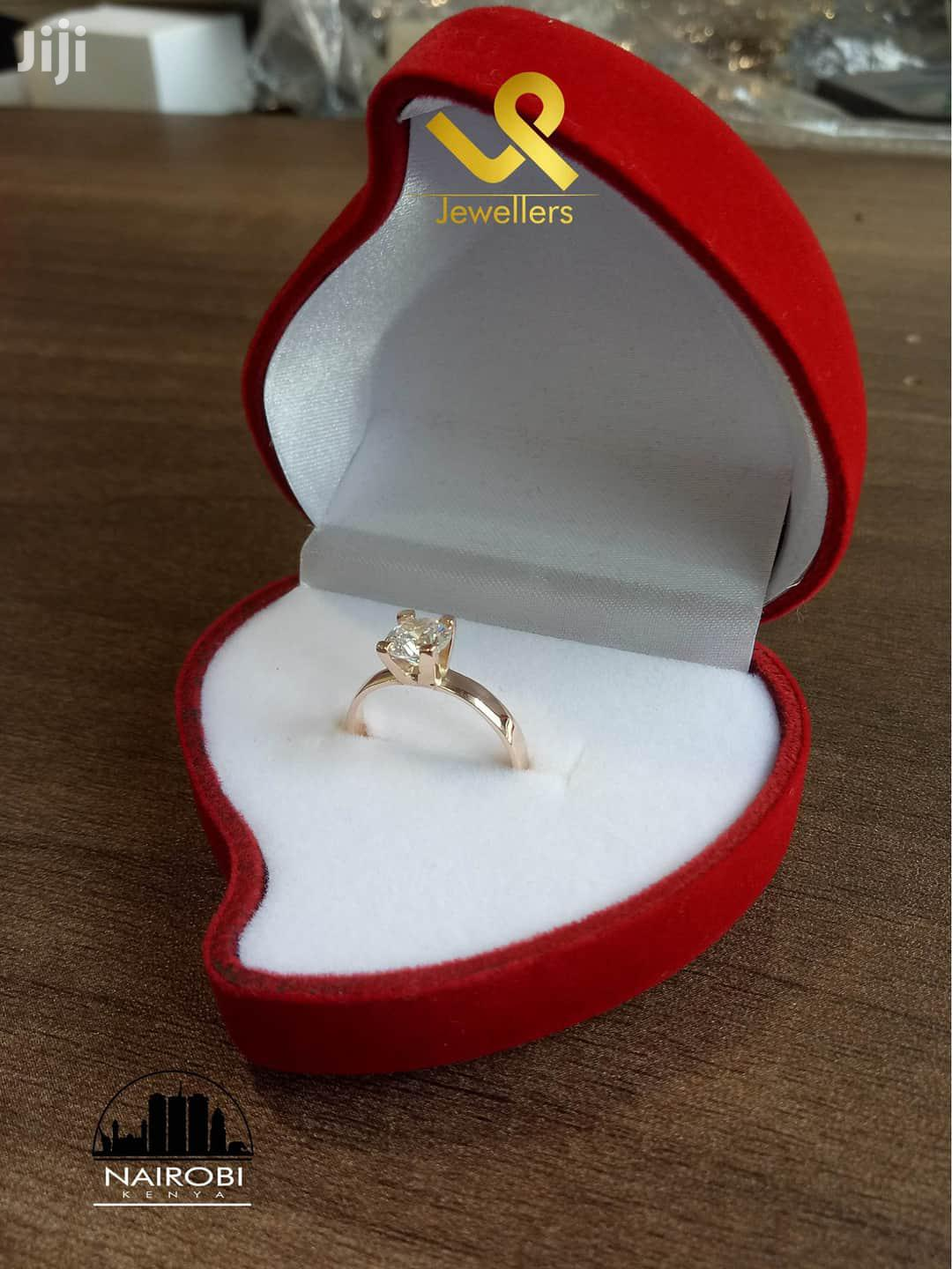 Genuine 9kt Yellow Gold Hand Made Ladies Engagement Ring
