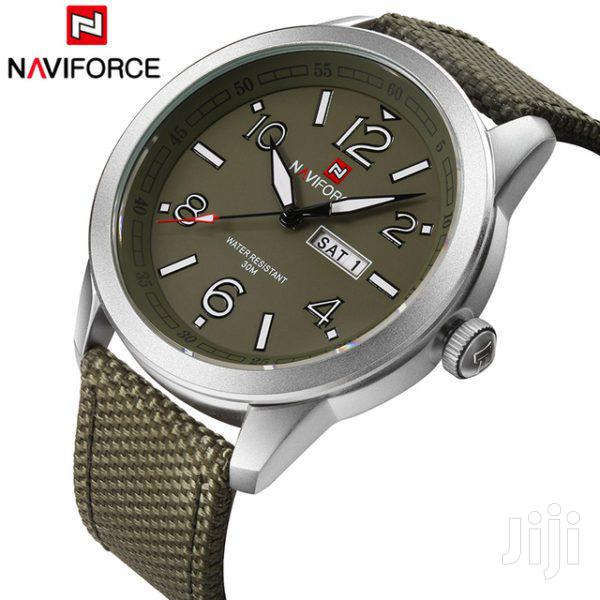 Naviforce Casual Watch for Men Analog Nylon - NF9101-GR