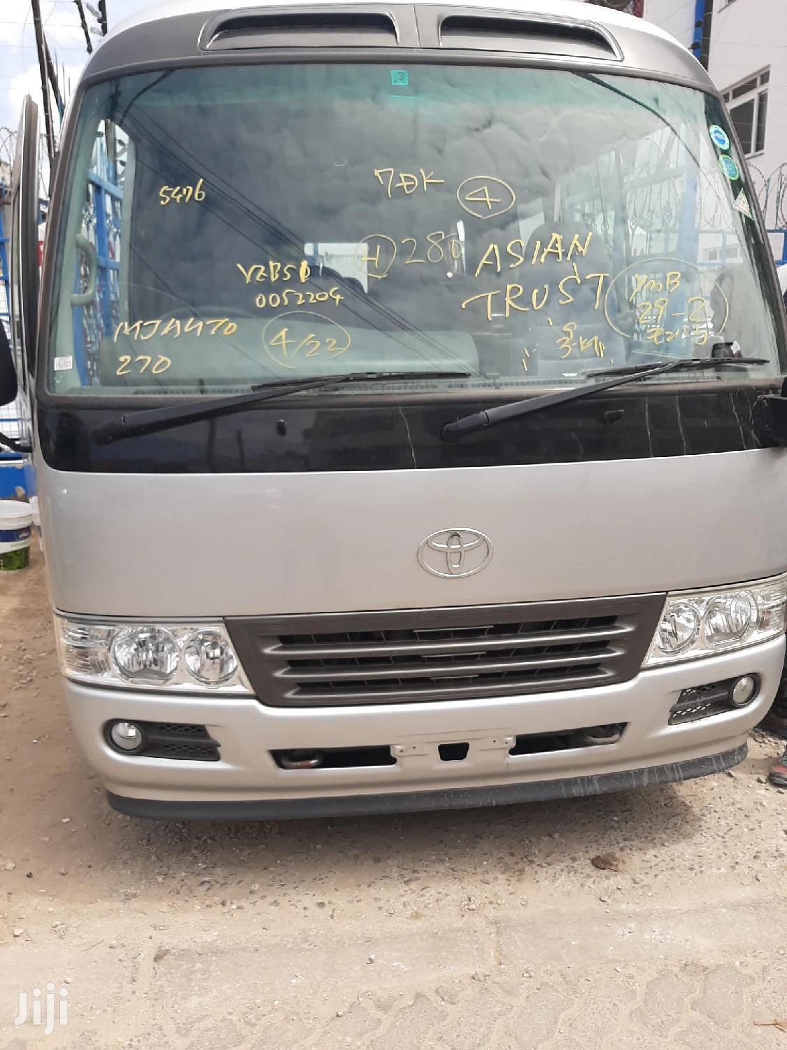 Toyota Coaster 2013 Silver For Sale