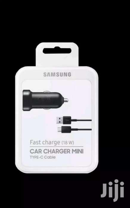 Original Samsung Car Fast Charger USB-C Cable For S8 S9 Note 8 Note 9