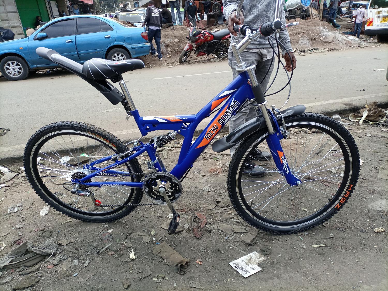 Brand New Mountain Bike With Three Shocks and Gears