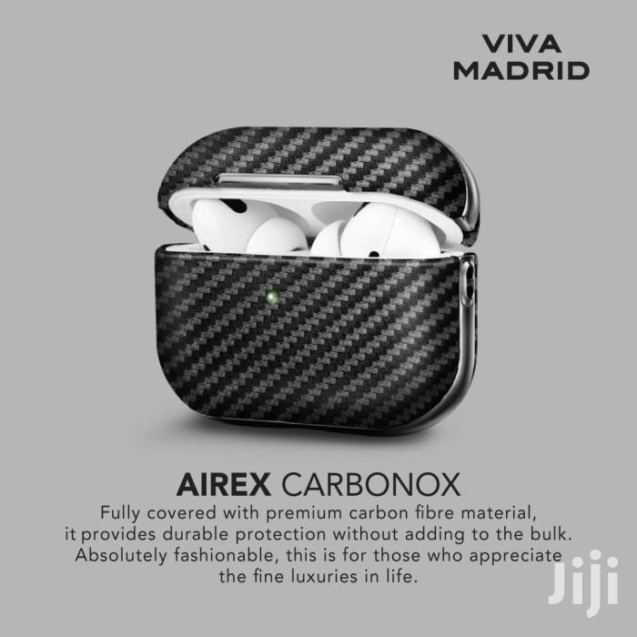 Airpods Pro Viva Madrid Airex Carbonox Case - Black | Accessories for Mobile Phones & Tablets for sale in Mji Wa Kale/Makadara, Mombasa, Kenya