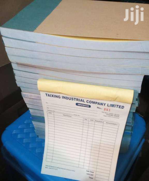 Receipt Books, Invoice Books