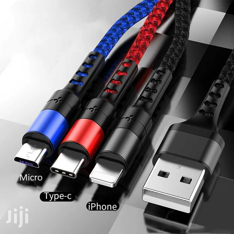 3 In 1 Fast Charge Cable For iPhone And Android
