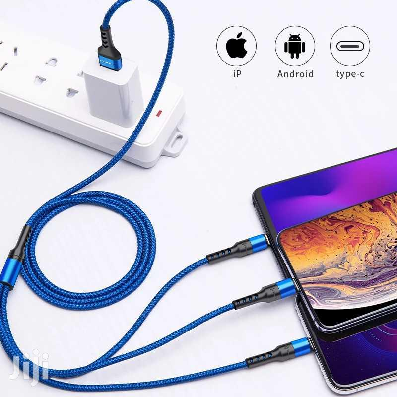 3 In 1 Fast Charge Cable For iPhone And Android   Accessories for Mobile Phones & Tablets for sale in Nairobi West, Nairobi, Kenya