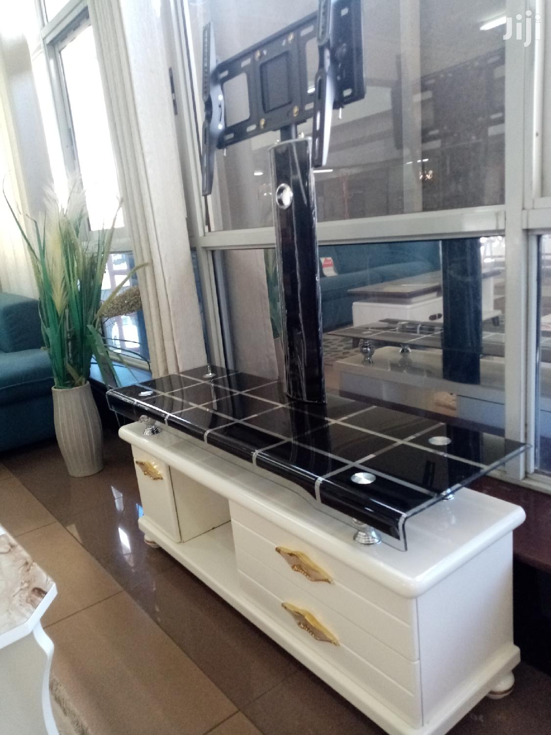 Black And White TV Stand