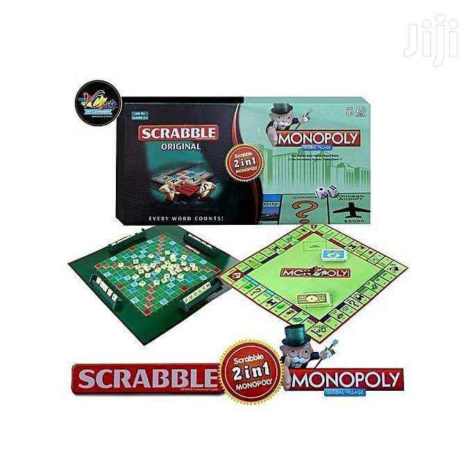 2-In-1 Monopoly Scrabble Set Classic Educational
