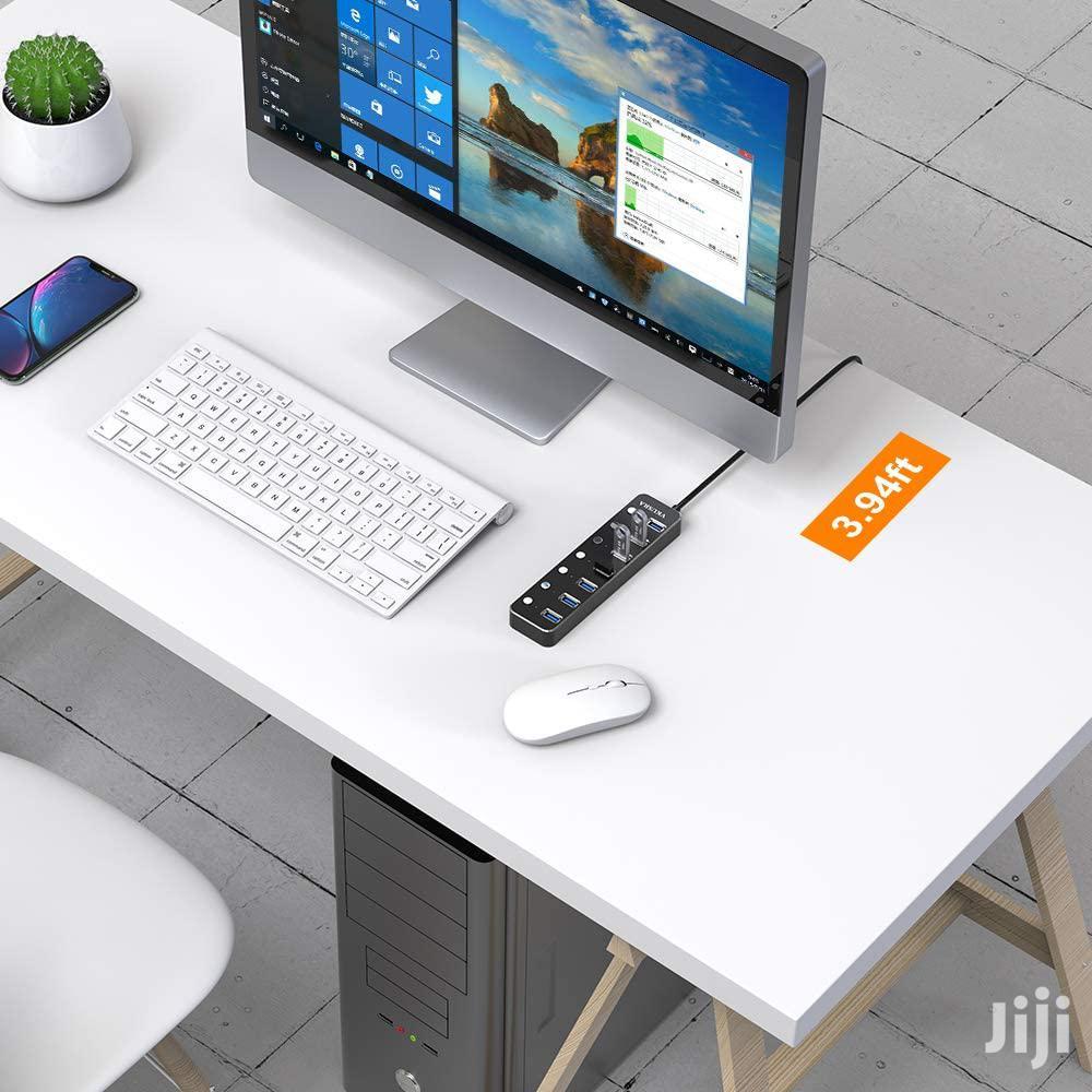 USB Hub 2.0, VKUSRA Ultra Slim 7 Ports Extension Data Hub Wi | Computer Accessories  for sale in Nairobi Central, Nairobi, Kenya