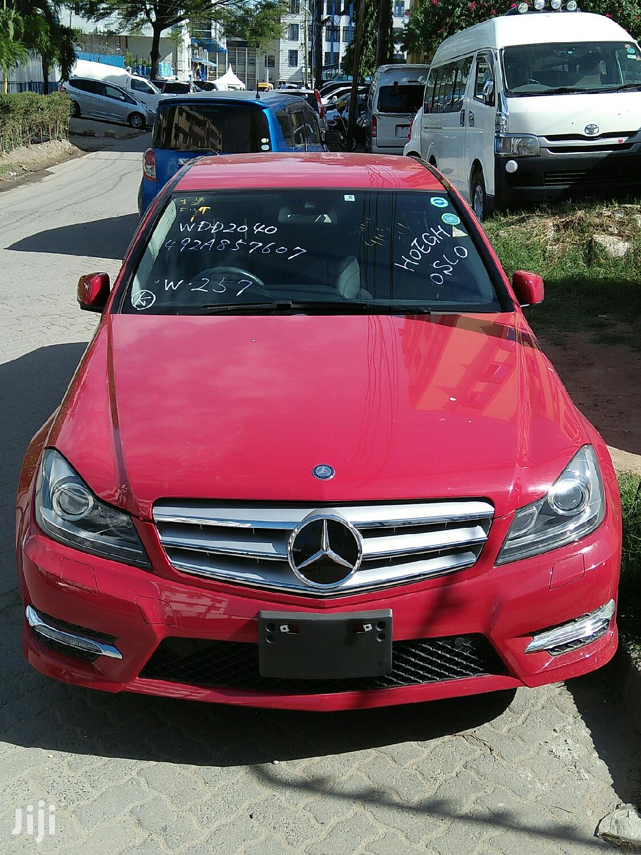 Mercedes-Benz C200 2013 Red | Cars for sale in Tudor, Mombasa, Kenya