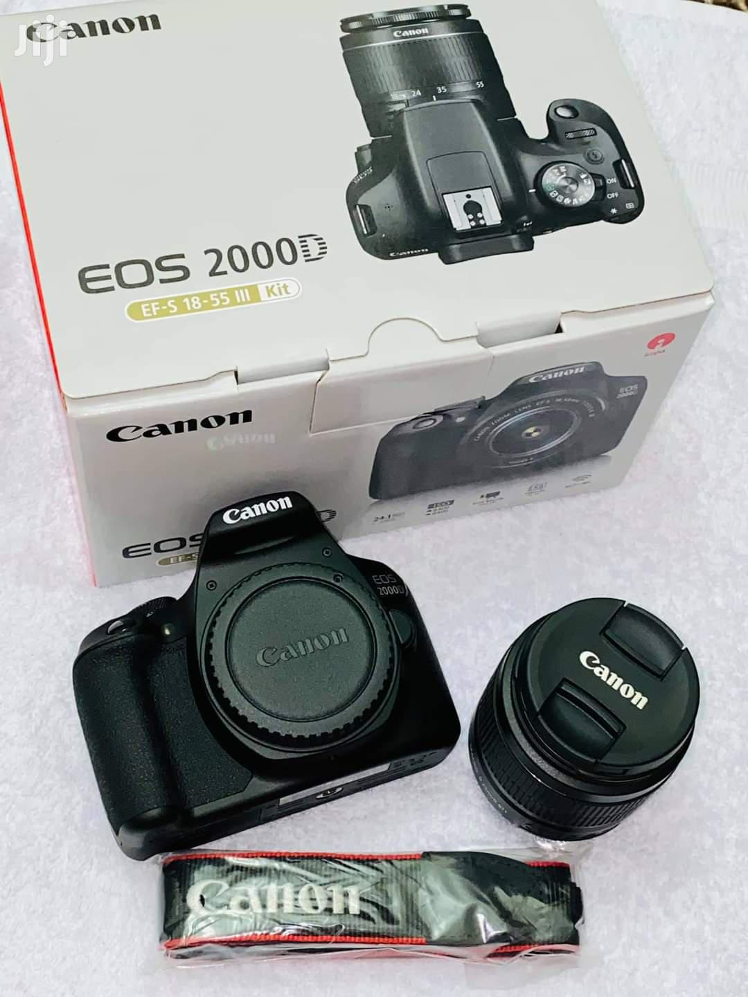 Canon EOS 2000D DSLR Camera With 18-55mm Lens 24.1mp Aps | Photo & Video Cameras for sale in Tudor, Mombasa, Kenya