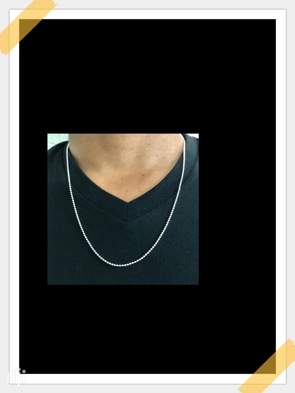 Small Pure Silver Chain For Men
