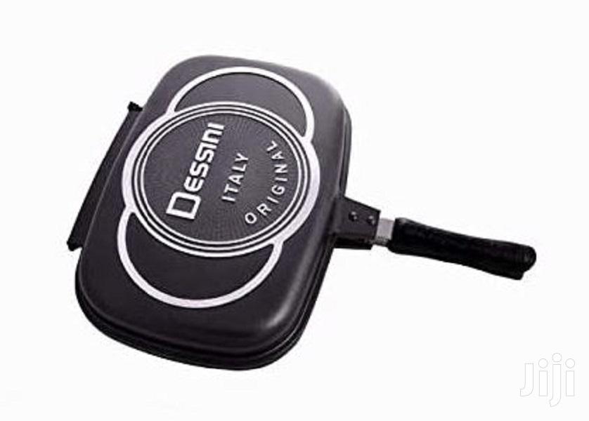Dessini Double Grill Non-stick Pressure Pan 36cm - Black