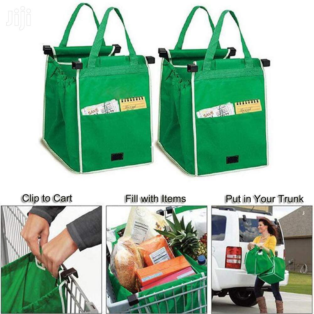 2 Pack Reusable Shopping Trolley Bags Grab