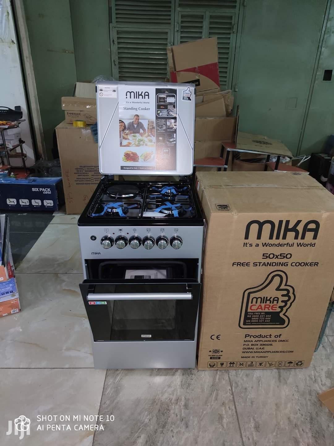 Mika 50*50 3gas + 1 Electric Standing Cooker | Kitchen Appliances for sale in Nairobi Central, Nairobi, Kenya