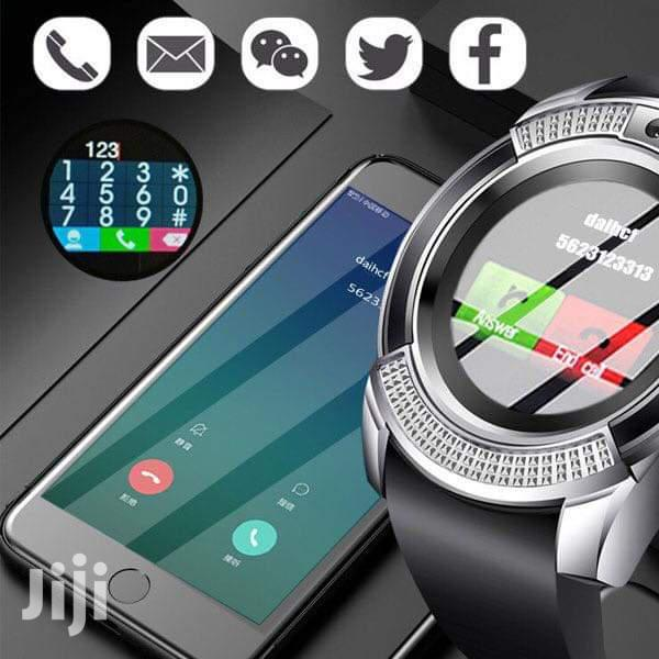 V8 Sports Round Smart Watch Phone