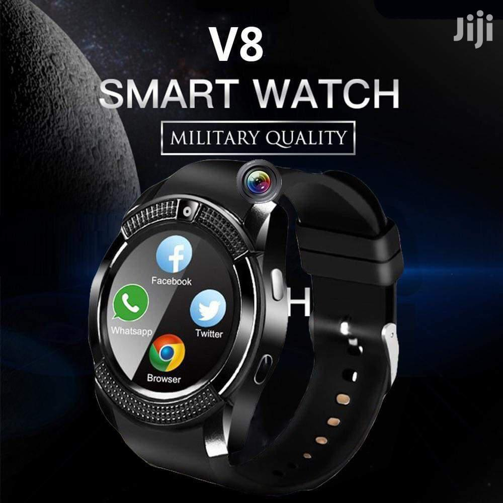 V8 Sports Round Smart Watch Phone | Smart Watches & Trackers for sale in Nairobi Central, Nairobi, Kenya
