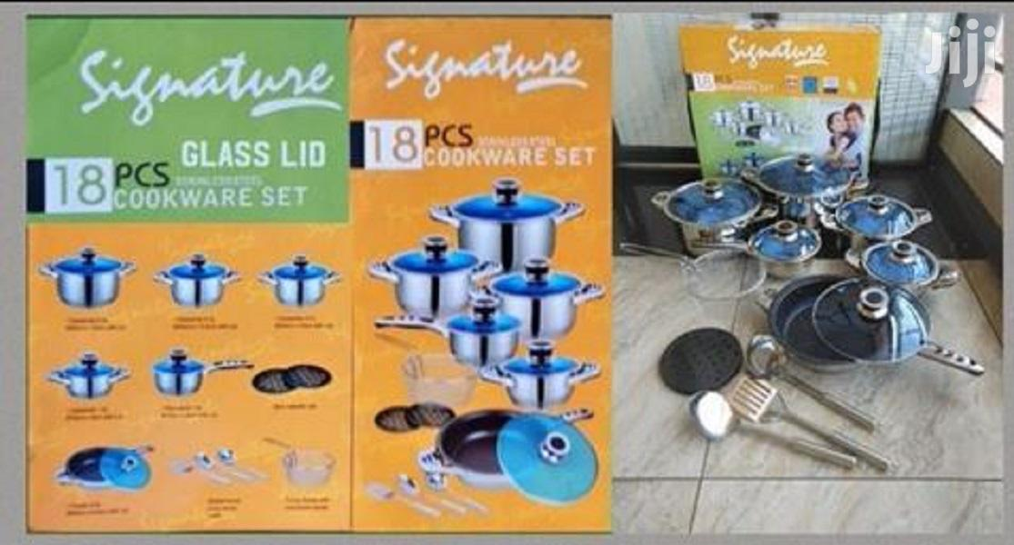 Stainless Steel 18pcs Induction Base Cooking Pots