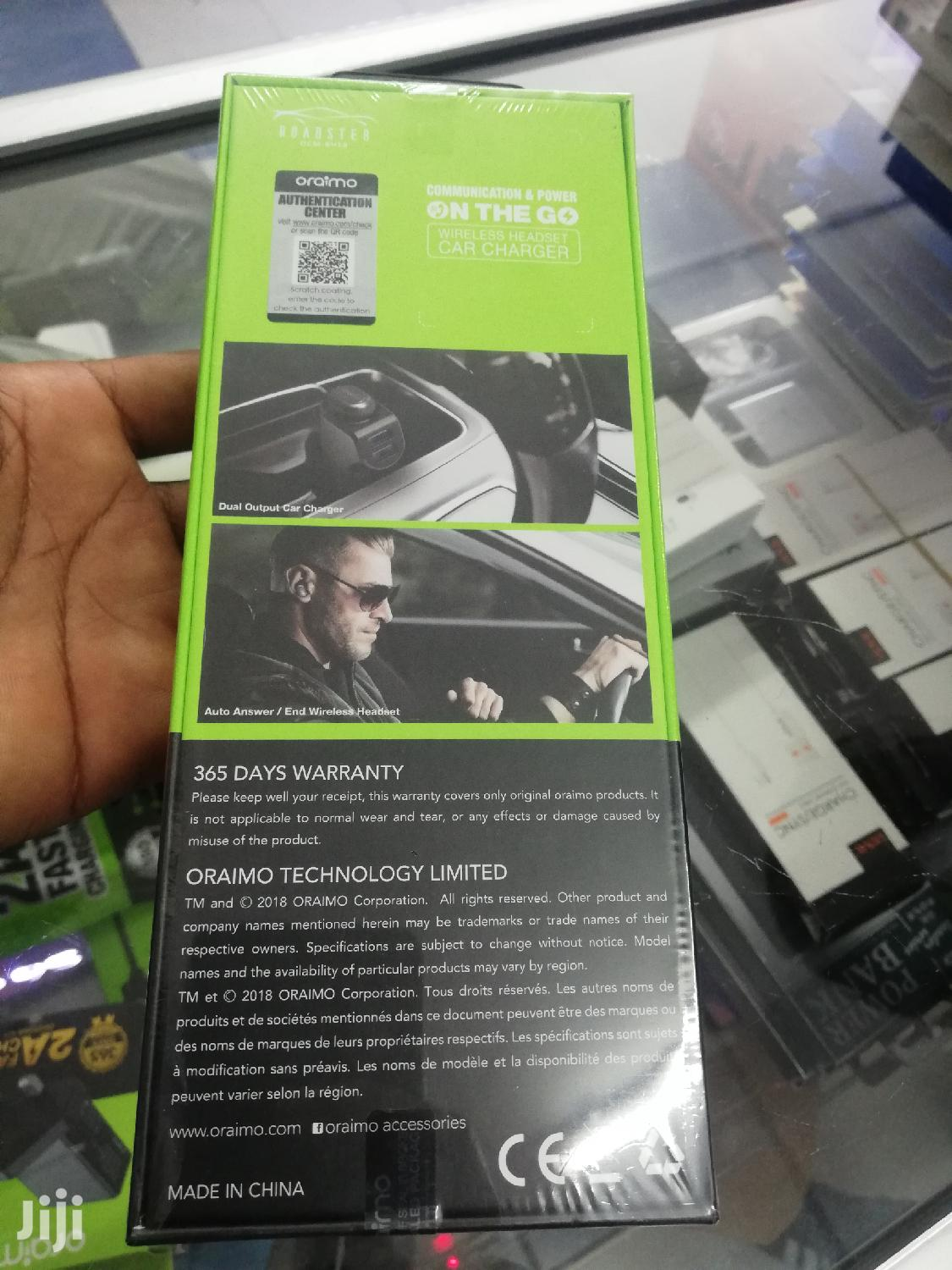 Oraimo Wireless Charger And Car Charger | Accessories for Mobile Phones & Tablets for sale in Nairobi Central, Nairobi, Kenya