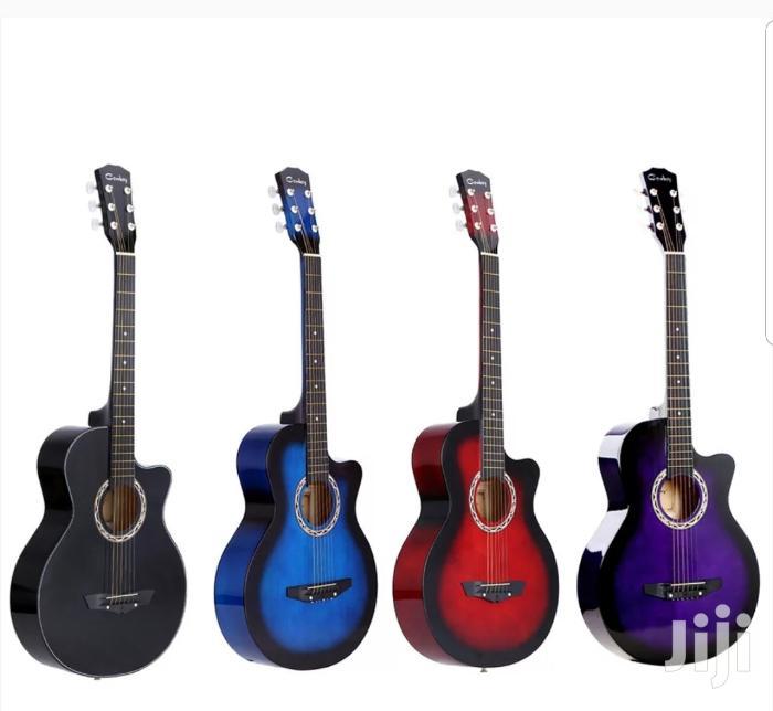Cowboy Acoustic Guitar Medium Size 38 Inch Assorted Colours