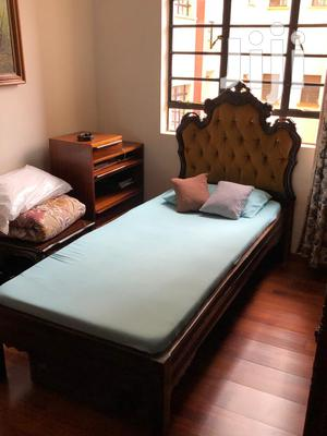 Single Bed With Carved Head Board And Mattress   Furniture for sale in Nairobi, Nairobi Central
