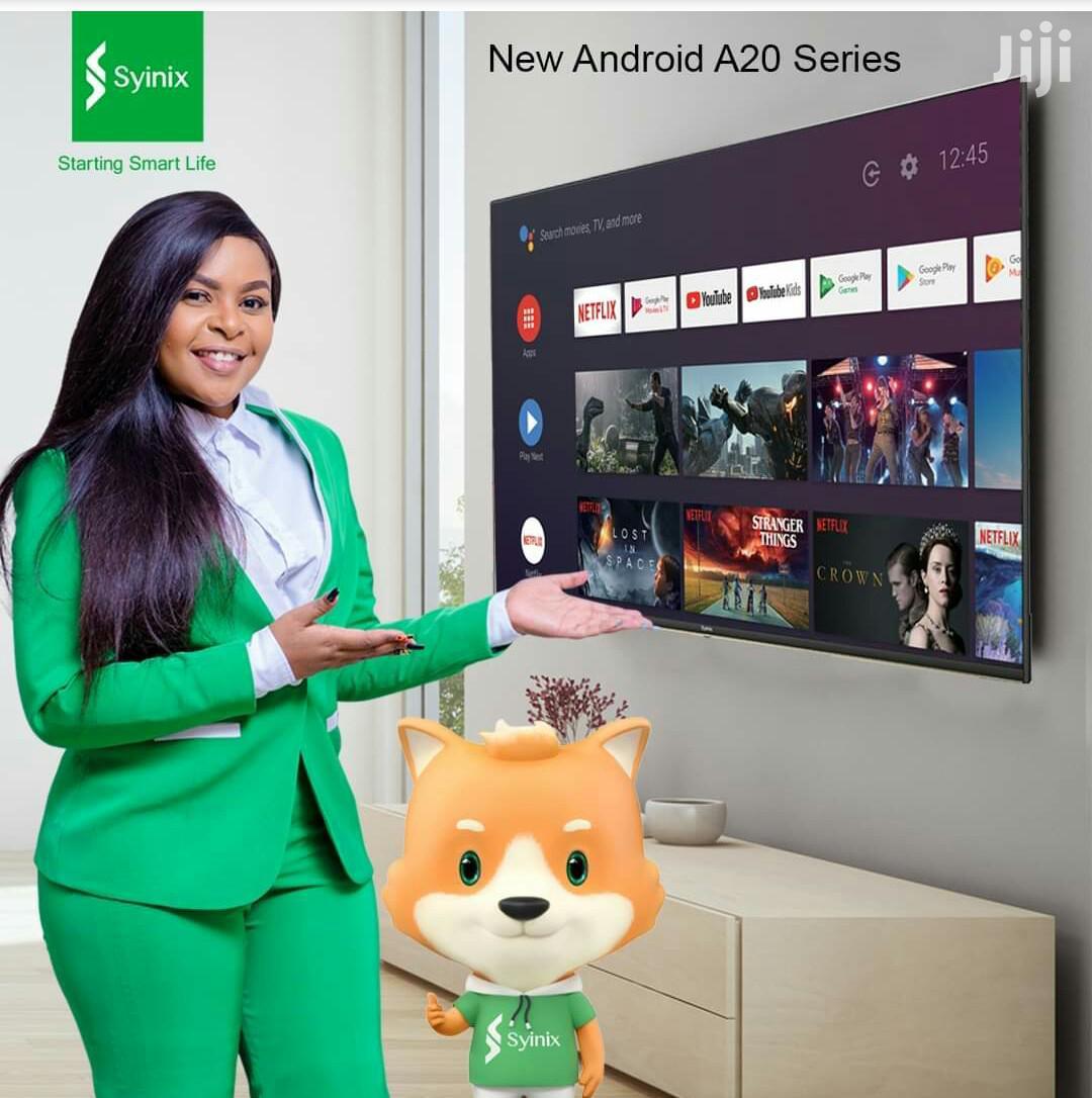 """Syinix 50"""" A20 Smart 4k Uhd Android Frameless Tv"""