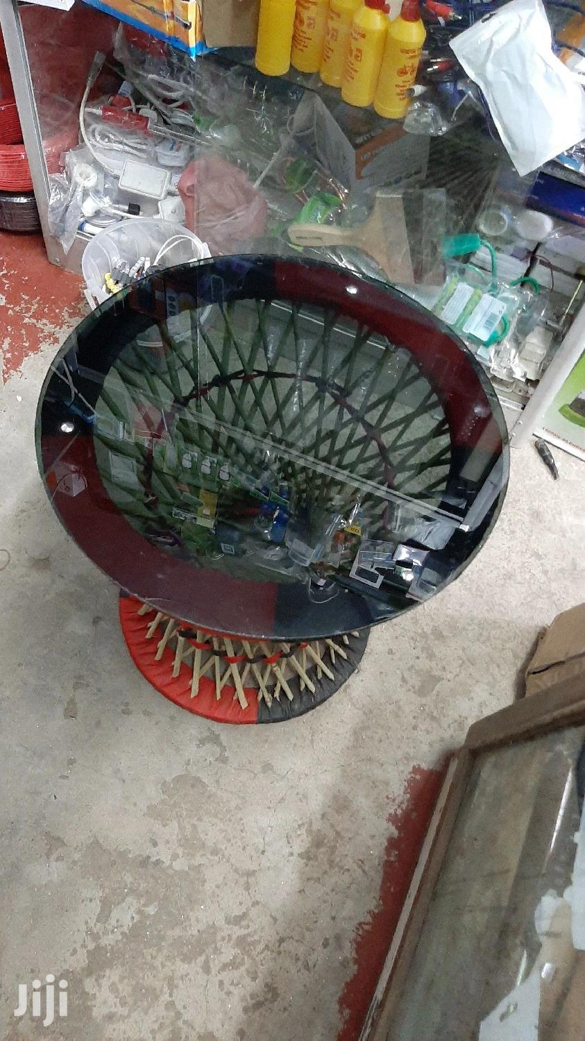 Glass Mini Round Coffee Table