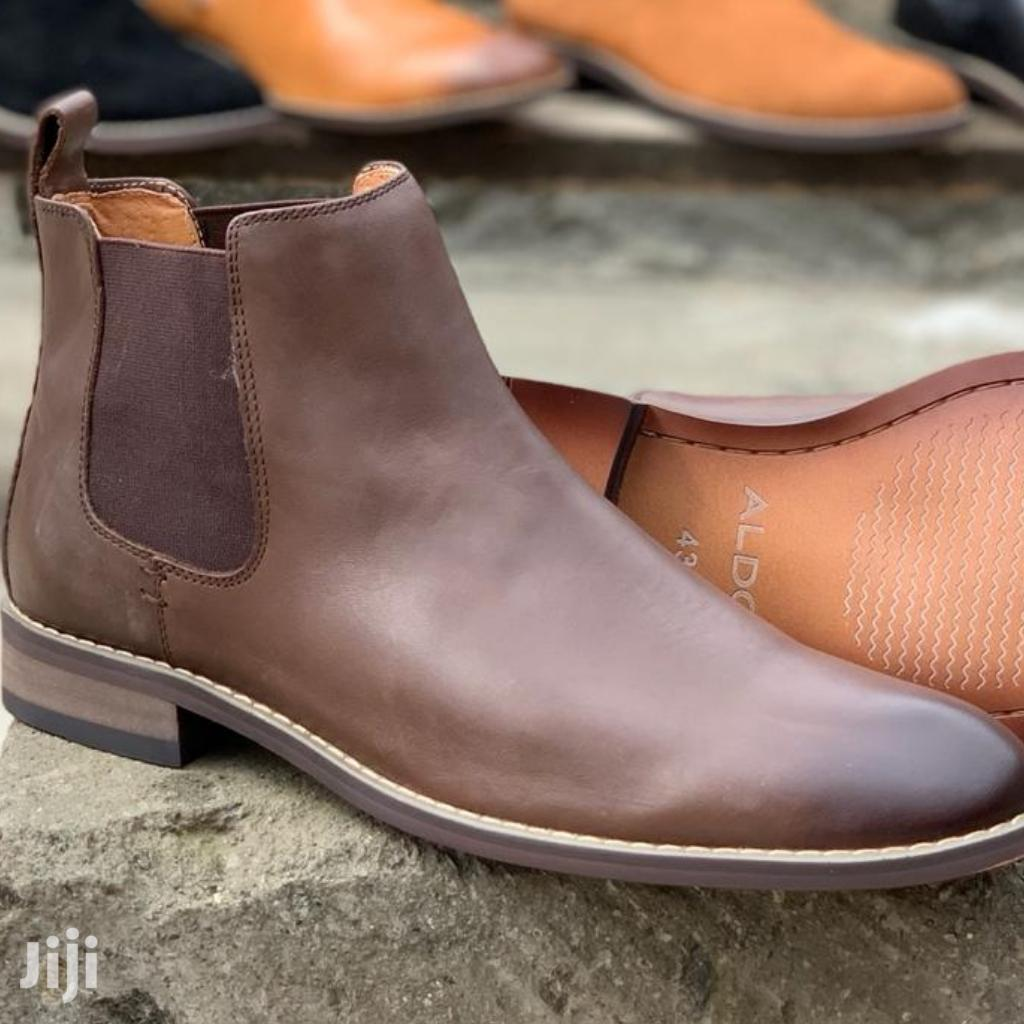 Aldo Leather and Chelsea Boots