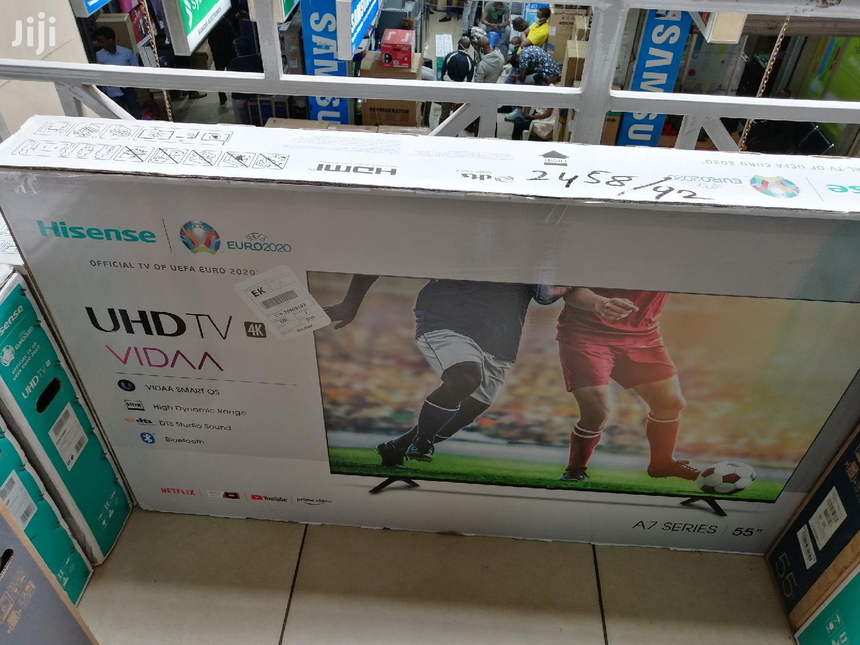 Hisense 55 Inch Smart 4K UHD Frameless TV, 55A7100