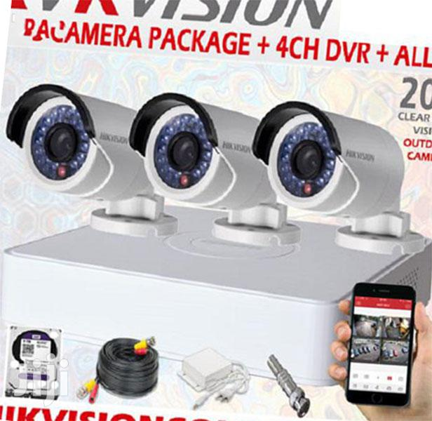 3 CCTV Cameras Security Surveillance Complete System Kit