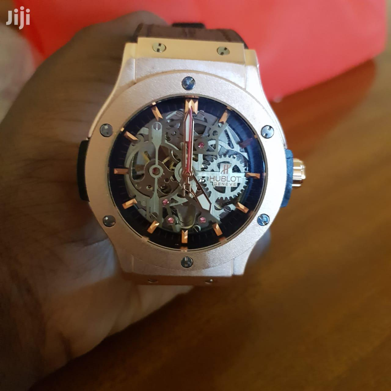 Hublot Rose Gold And Brown Leather Strap