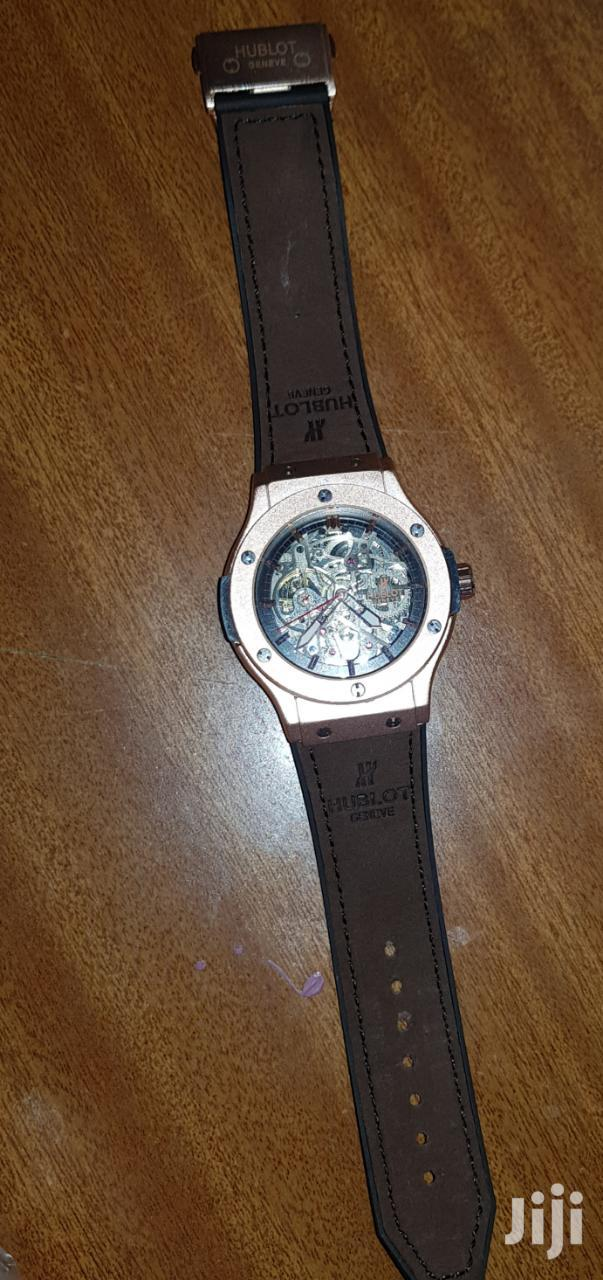 Hublot Rose Gold And Brown Leather Strap | Watches for sale in Nairobi Central, Nairobi, Kenya