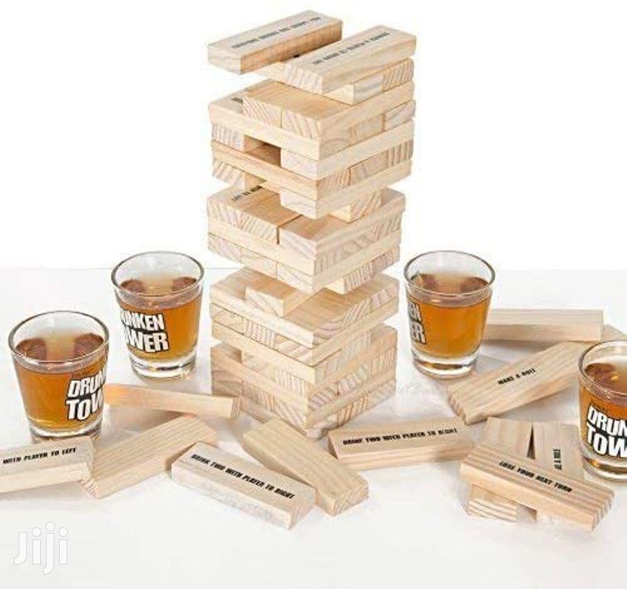 """Drunken """"JENGA BLOCK"""" Tower Adult Drinking Game"""