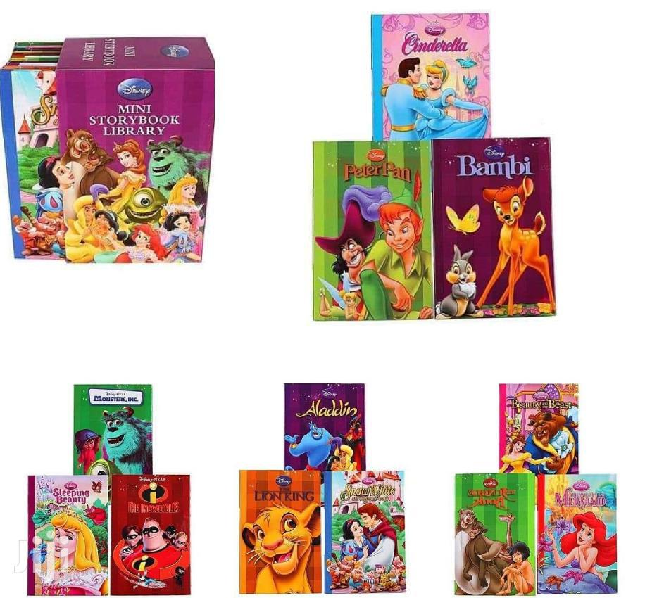 Kids Disney Set Of 12 Mini Storybook Library-assorted Titles
